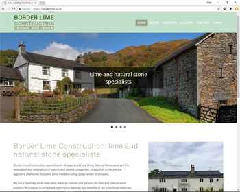 Website for Border Lime Construction, Cumbria
