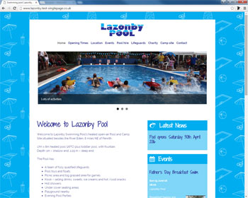 Website for Lazonby Pool, Penrith, Cumbria
