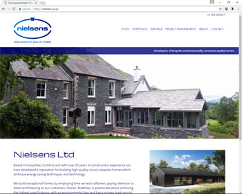 Website for Nielsens, Penrith