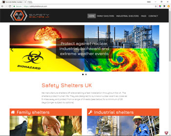 Website for Safety Shelters UK