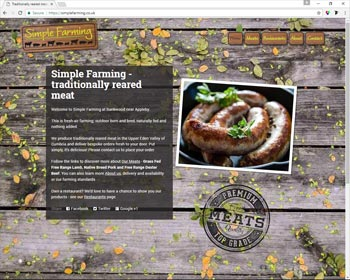 Website for Simple Farming Appleby