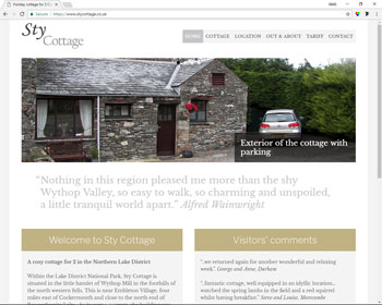 Website for Sty Cottage, Cockermouth